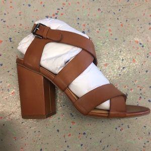 New never worn block heeled sandals